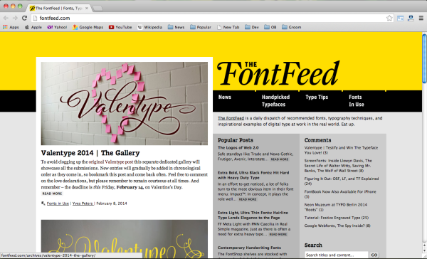 font-feed