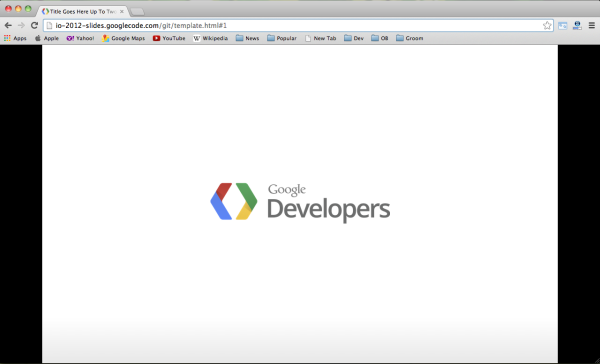 google-developer-framework