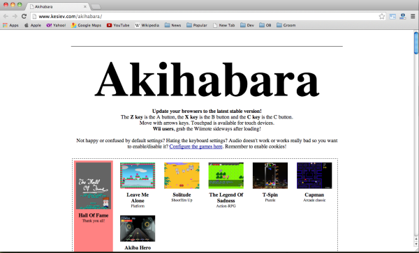 Best HTML5 and javascript game engine Library- akihabara