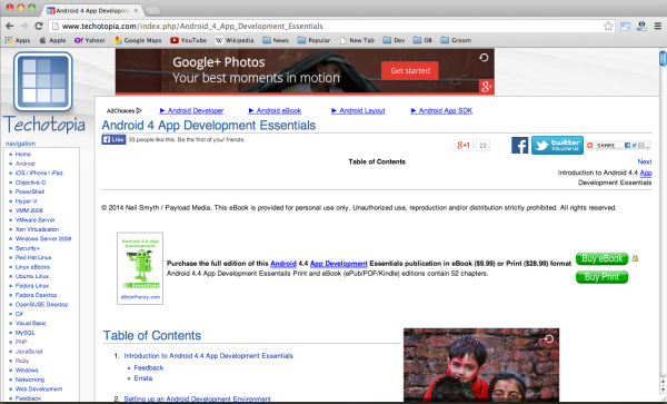 Best free android programming book - android-4-app-development