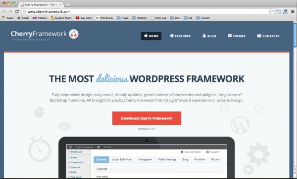 best bootstrap wordpress framework - cherry-framework