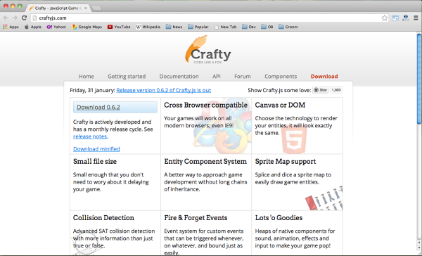 Best HTML5 and Javascript game engine library - craftjs