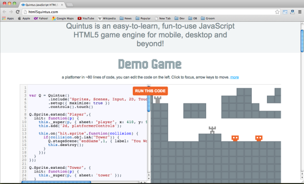 Best HTML5 and javascript game engine Library - html5quintus