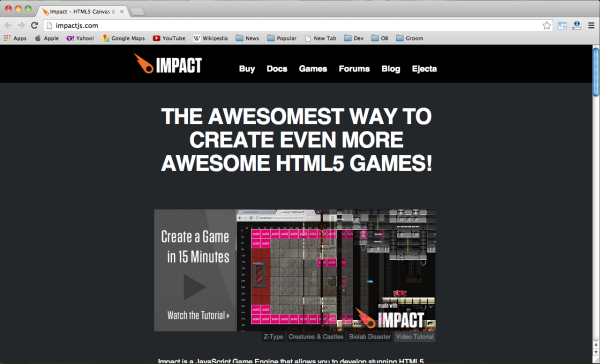 Best HTML5 and Javascript game engine library - impactjs