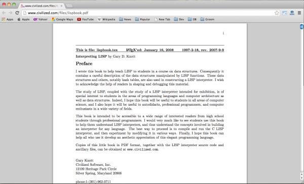 online lisp programming book - interpreting-lispbook
