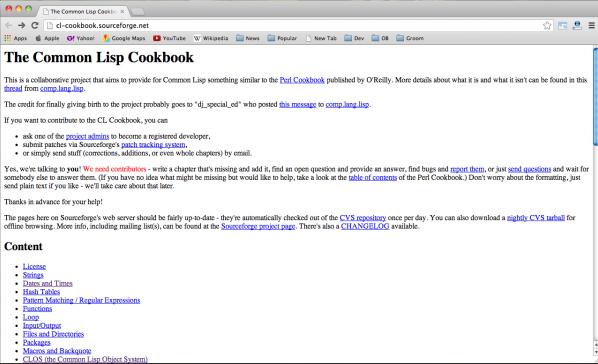 lisp-cookbook