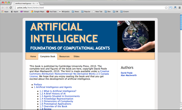 Best Free Online Artificial Intelligence Books  - artificial-intelligence