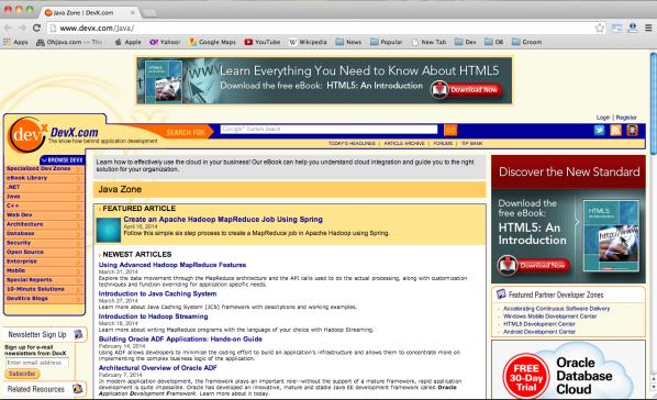 Best websites for Java developers-  devx-java