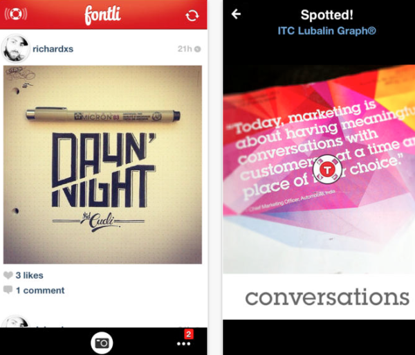 Best Free iPhone apps for designers 2014 - fontil
