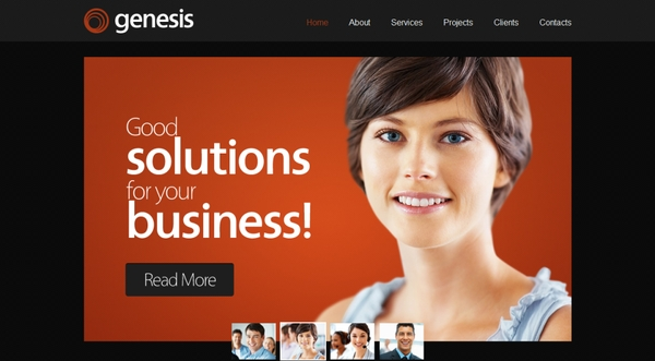 Best free HTML5 and CSS3 responsive website templates 2014-genesis
