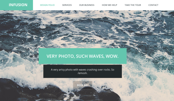 Best free HTML5 and CSS3 responsive website templates 2014-infusion