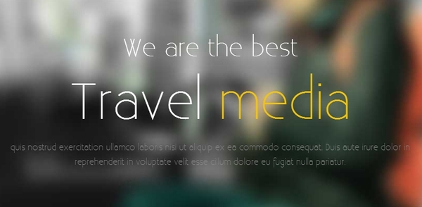Best Free HTML5 and CSS3 websites templates 2014-travle-media