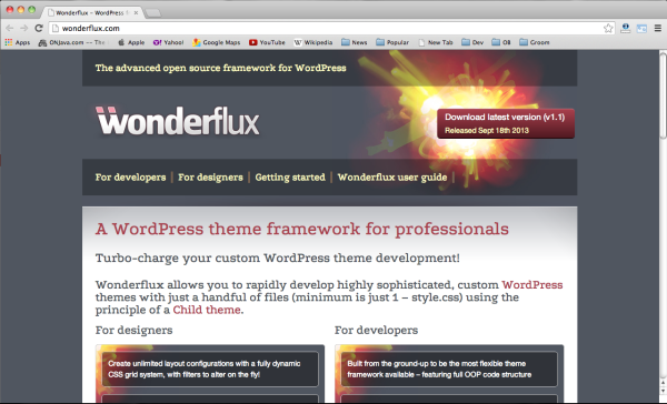 Best free wordpress themes frameworks 2014-wonderflux