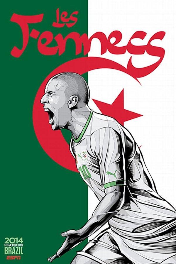 FIFA 2014 world cup poster design Algeria
