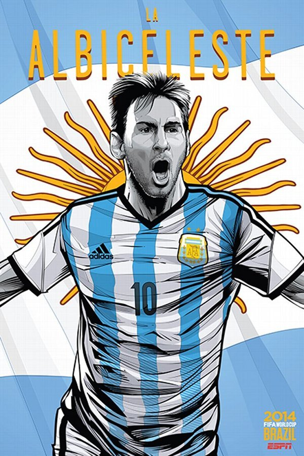 FIFA 2014 world cup poster design Argentina