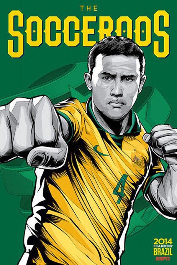 FIFA 2014 world cup poster design Australia