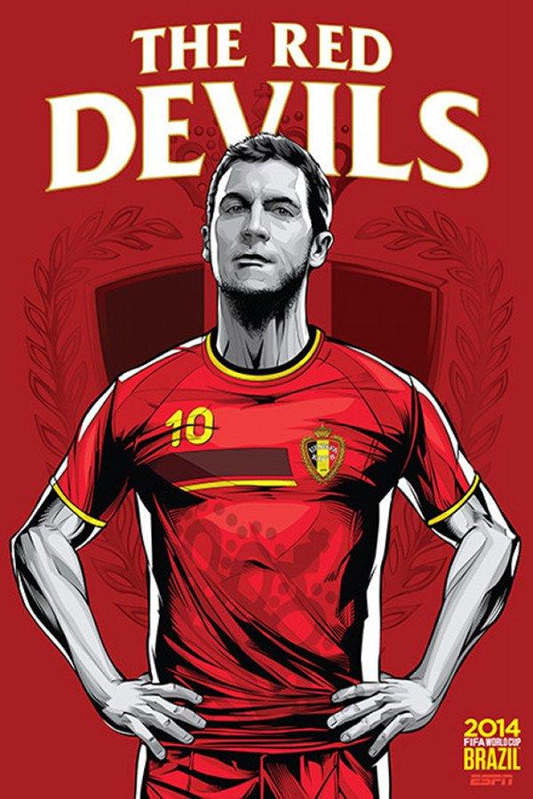 FIFA 2014 world cup poster design Belgium