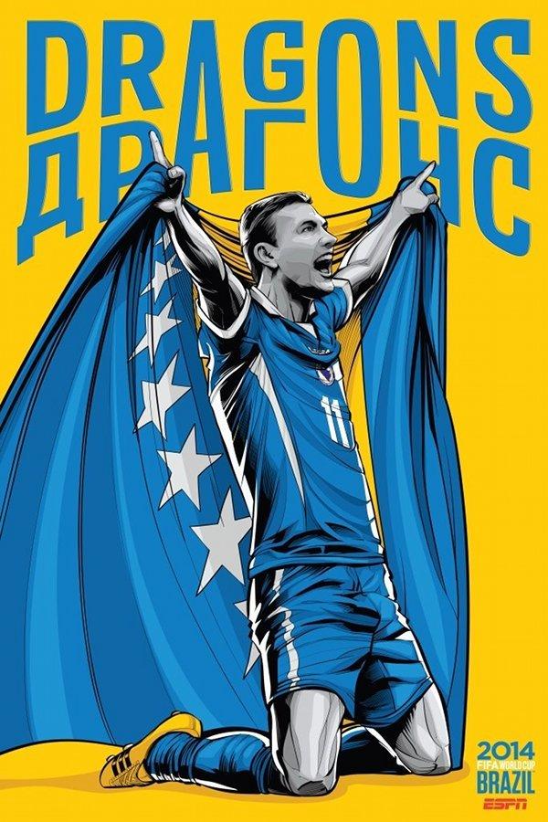 FIFA 2014 world cup poster design bosnia-and-herzegovina