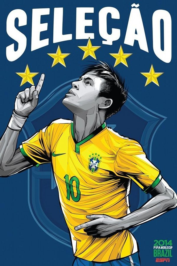 FIFA 2014 world cup poster design-brazil