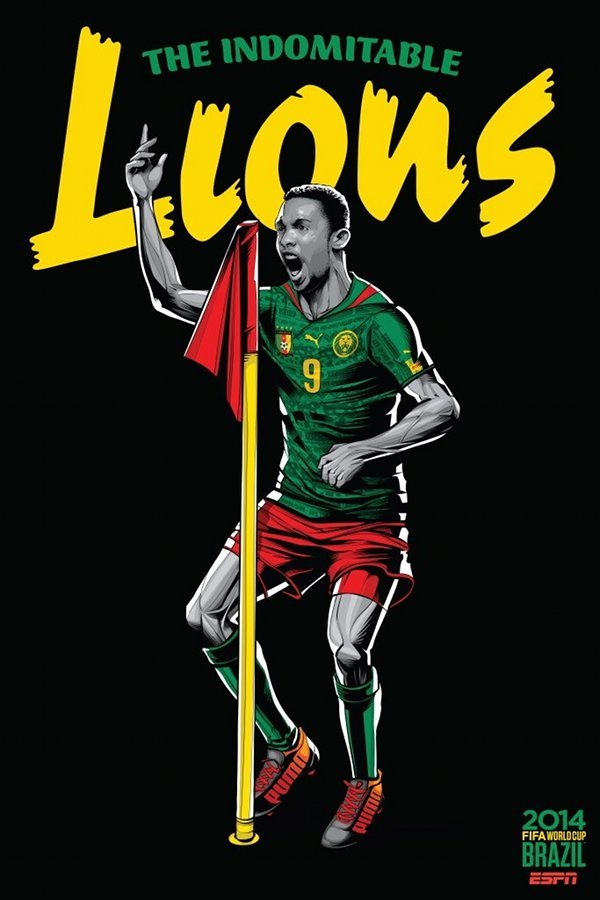 FIFA 2014 world cup poster design cameroon