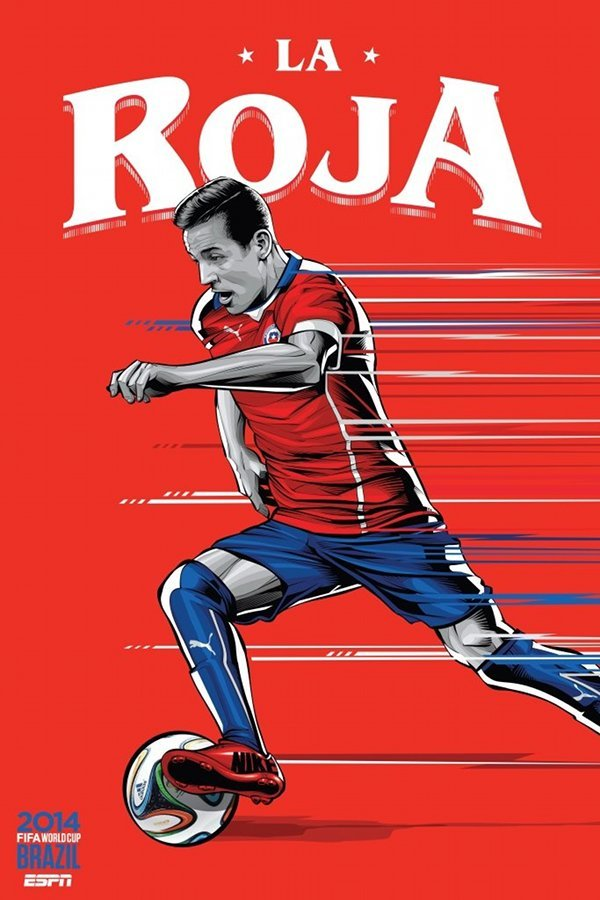 FIFA 2014 world cup poster design chile