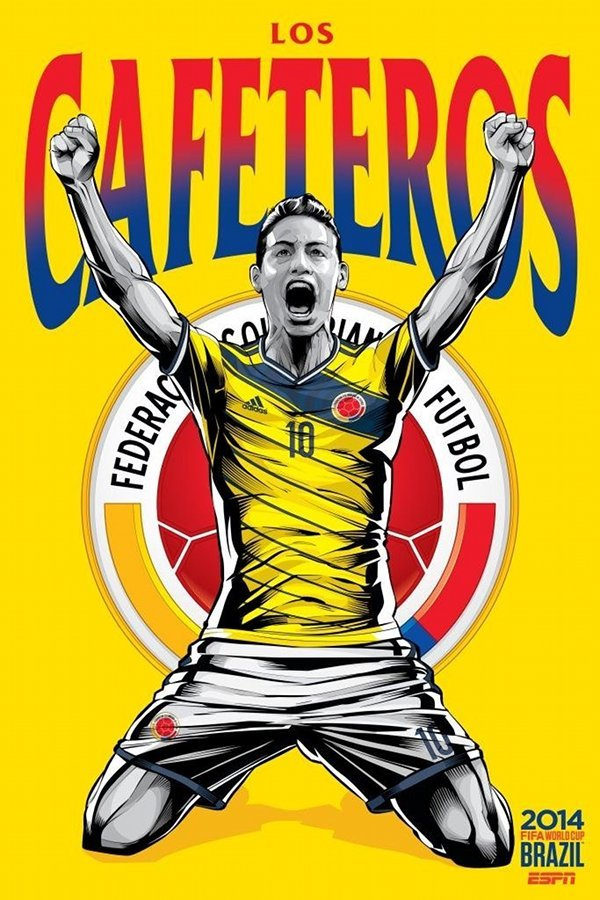 FIFA 2014 world cup poster design colombia