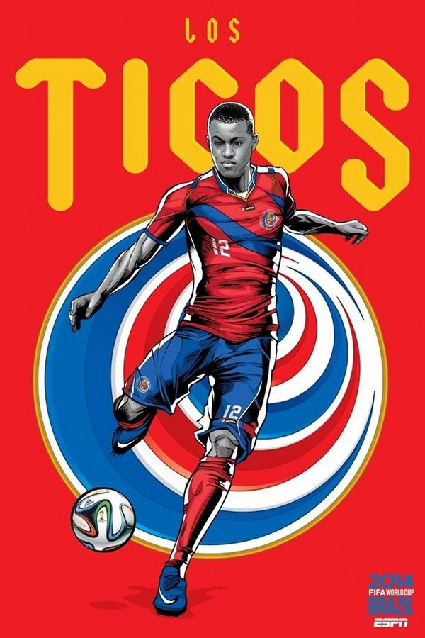FIFA 2014 world cup poster design costa-rica