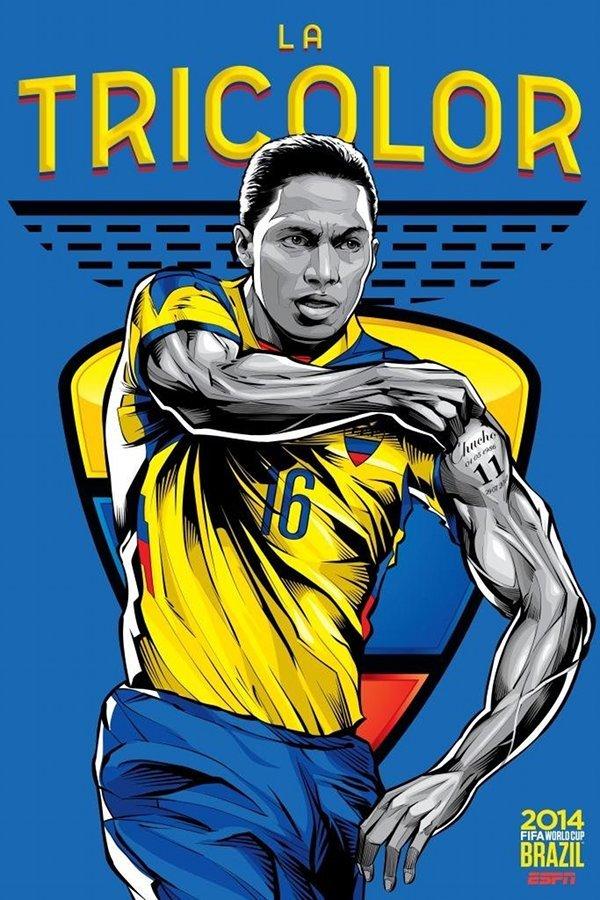 FIFA 2014 world cup poster design ecuador