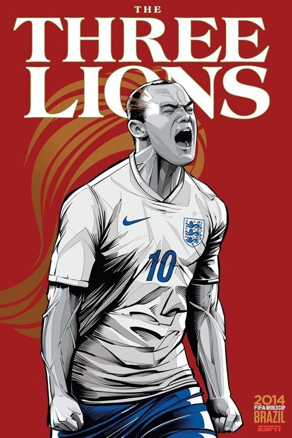FIFA 2014 world cup poster design england