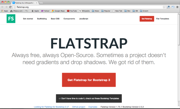 Best bootstrap tools for web designers-flatstrap