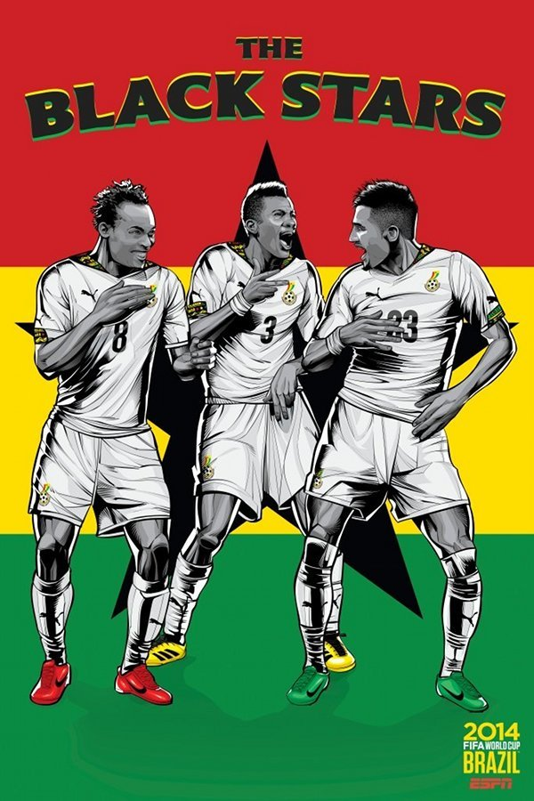 FIFA 2014 world cup poster design ghana