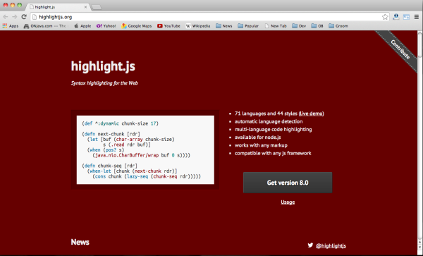 best javascript resources for designers and developers-highlightjs