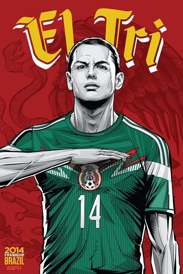 FIFA 2014 world cup poster design mexico