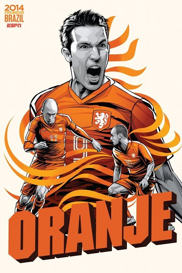 FIFA 2014 world cup poster design netherlands