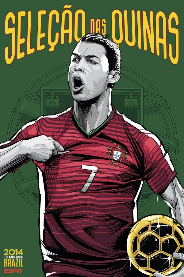 FIFA 2014 world cup poster design portugal