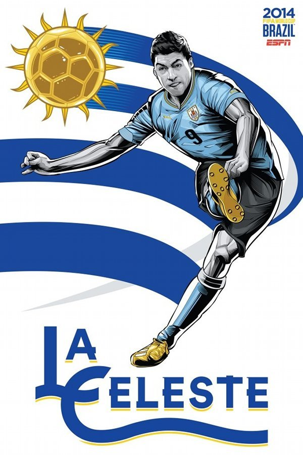 FIFA 2014 world cup poster design uruguay