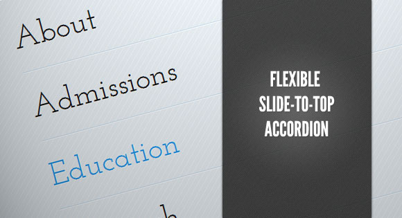 FlexibleSlideToTopAccordion