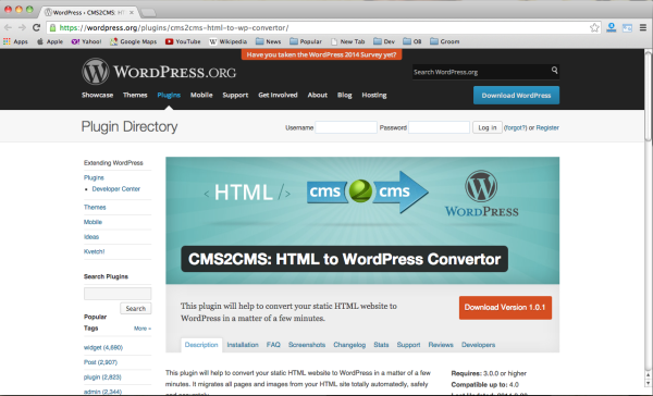 best wordpress plugins for web developers  html-wp-convertor