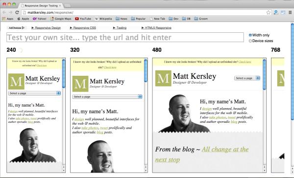 best web design testing tools - mattkersley-responsive