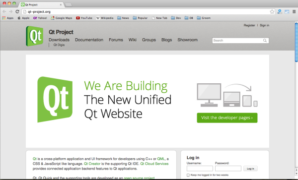 fresh and useul framework for web developers - qtproject