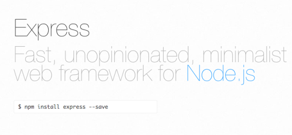 best Node.js MVC frameworks for javascript - expressjs