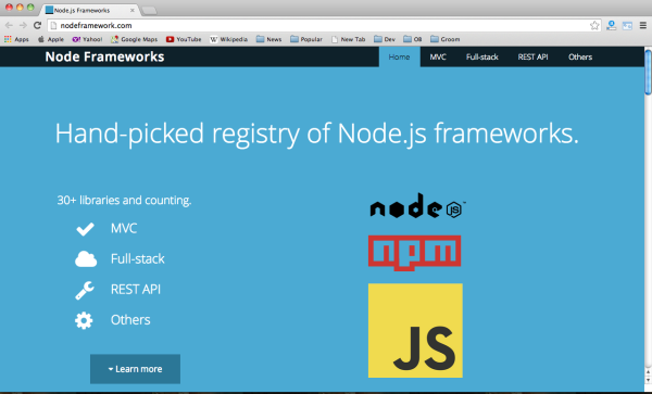 best Node.js MVC frameworks for javascript - nodeframework