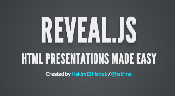 top best html5 and javascript presentation framework - revealjs