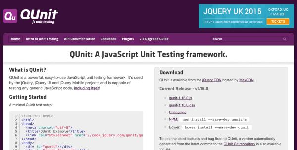 top best javascript frameworks for programmers 2014 - qunitjs