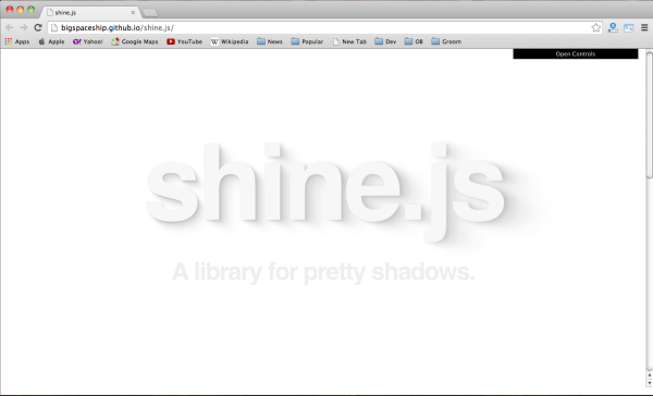 Best and most popular javascript librarires of 2014  - shine.js