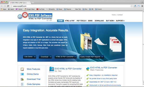 top best tools to convert HTML to PDF - evopdf