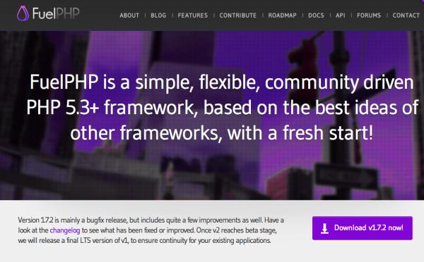 best PHP frameworks for 2015 - fuelPHP