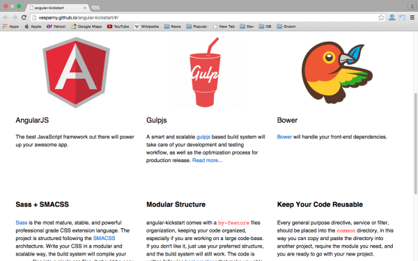 best angularJS tools for web developers for 2015 - angular-kickstart