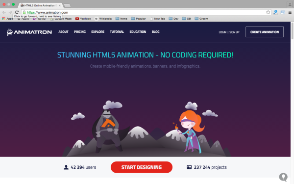 best HTML5 Animation Tools for designers  - animatron