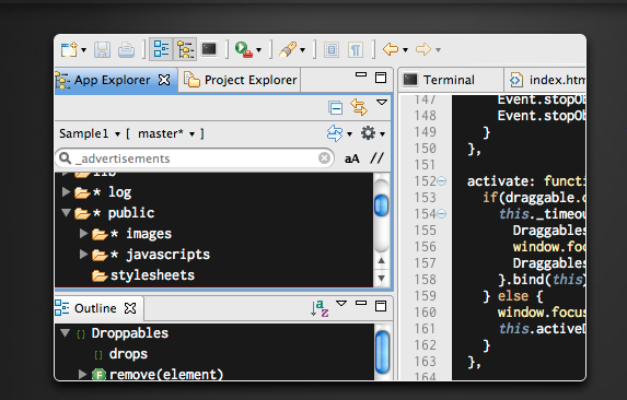 best free IDEs and Editors for programmers and designers - aptana